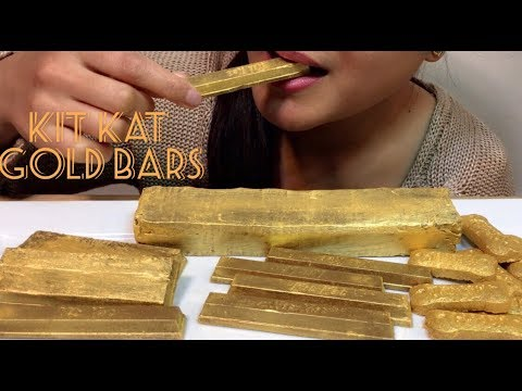 ASMR KitKat GOLD BARS | Eating Sounds | HOPE ASMR
