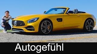 Mercedes-AMG GT C Roadster FULL REVIEW test driven 557 hp AMG convertible - Autogefühl