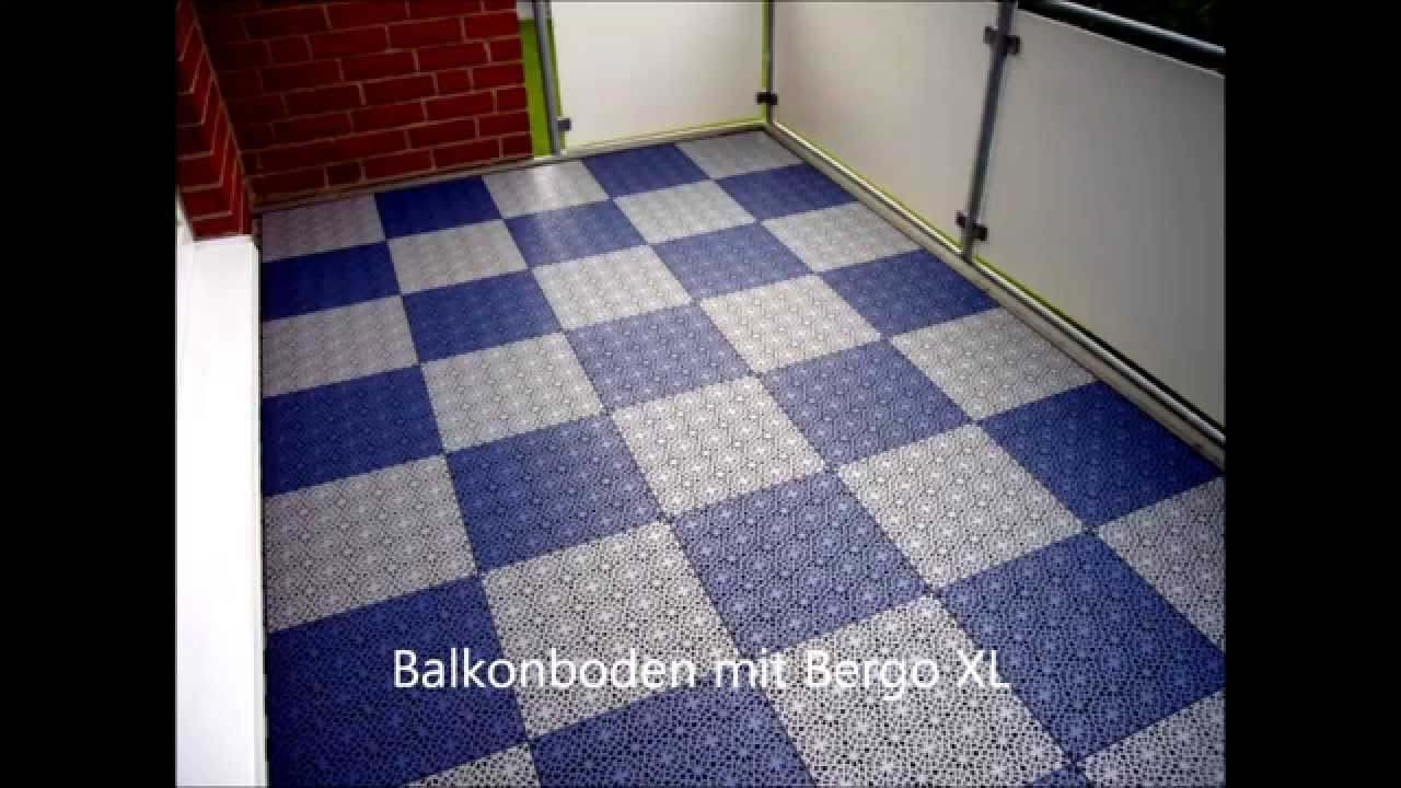 balkonboden mit bergo youtube. Black Bedroom Furniture Sets. Home Design Ideas
