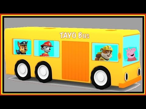 Thumbnail: TAYO Bus CLONE! - Mini Magic Cartoon Cars Construction - Vehicle Puzzle for Kids!