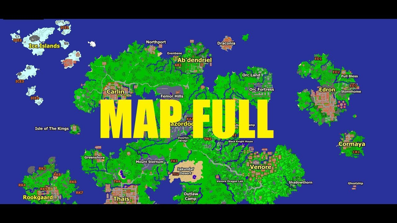 Tibia map interactive