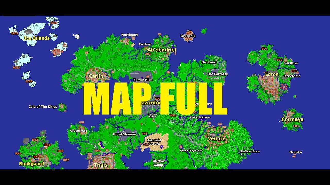 Tibia World Map.Tutorial Instalando Automap Nostalrius Tibia 7 4 Mapa Full Youtube