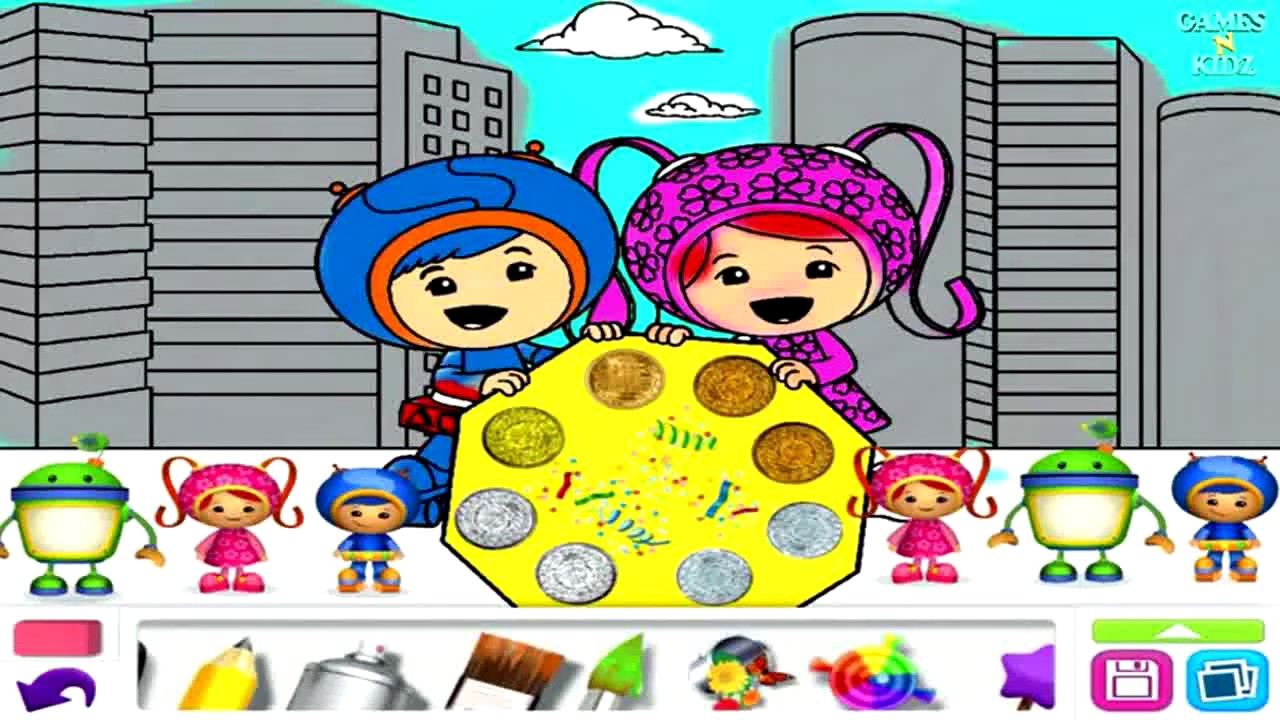 Team Umizoomi Games Bubble Guppies Dora Coloring Book Draw Play