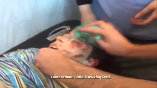 SNN | Syria | Homs | Doctors Distract Girl As Brother Takes Last Breaths | Sept 17, 2013 | 18+ ONLY