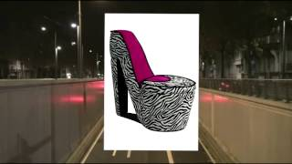 Ore International Ahb4258r High Heel Storage Chair Pink Zebra