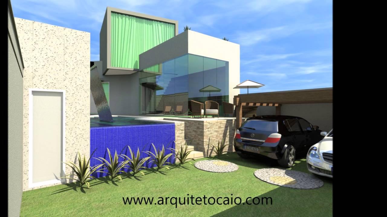 Projeto planta casa moderna residencia 03 su tes for Case moderne e contemporanee