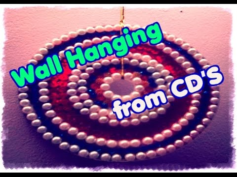 How To Make Wall Hanging From Cd Youtube