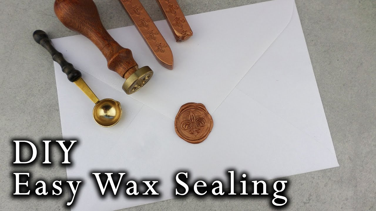How to wax seal envelopes | DIY Wedding Invitations - YouTube