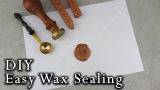 How to wax seal envelopes | DIY Wedding Invitations