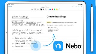 Nebo is still the BEST handwriting recognition app for your iPad in 2019