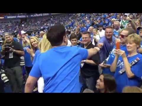 Mark Cuban Amongst The Fans! Game 3-Spurs Mavs