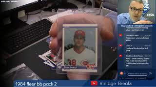 01-15-2019 1984 Fleer Baseball Wax Pack 2 Break Opening Video