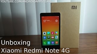 Unboxing Del Xiaomi Redmi Note 4G - Android Apps Team
