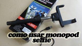 Como usar un monopod Z07-1 selfie REVIEW