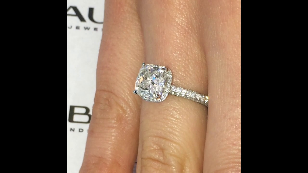 2.3 ct Cushion Cut Diamond Solitaire Ring