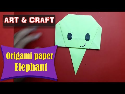 DIY  How to make an origami paper Elephant || Art & Craft || Open Mind 🎊