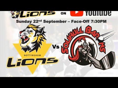 Nottingham Lions V Solihull Barons LIVE