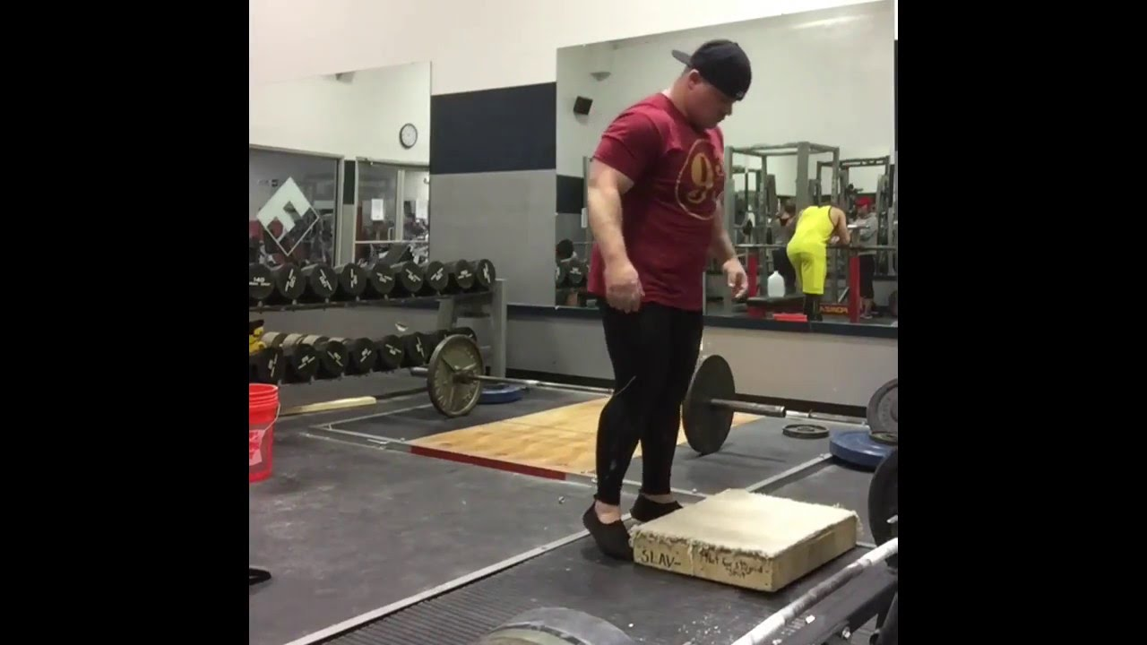 How not to put weights on blocks for deadlifts