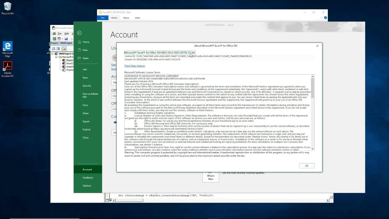 Generate 837 5010X222A1 EDI file in Excel
