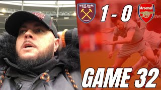 West Ham 1 vs 0 Arsenal - Absolutely Disgusting Performance - Matchday Vlog