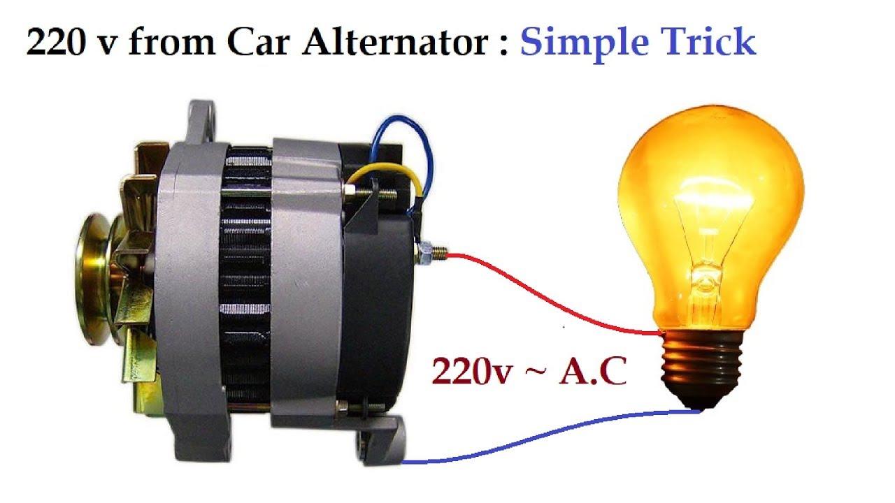 220v to 300v ac from 12v car alternator at low rpm amazing. Black Bedroom Furniture Sets. Home Design Ideas