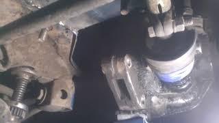Ваз 2109. Ремонт сгнившего места крепления задней подушки двигателя