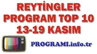 En Çok İzlenen Programlar - 13-19 Kasım 2017 Reyting Sonuçları, Haftalık Program Reytingleri