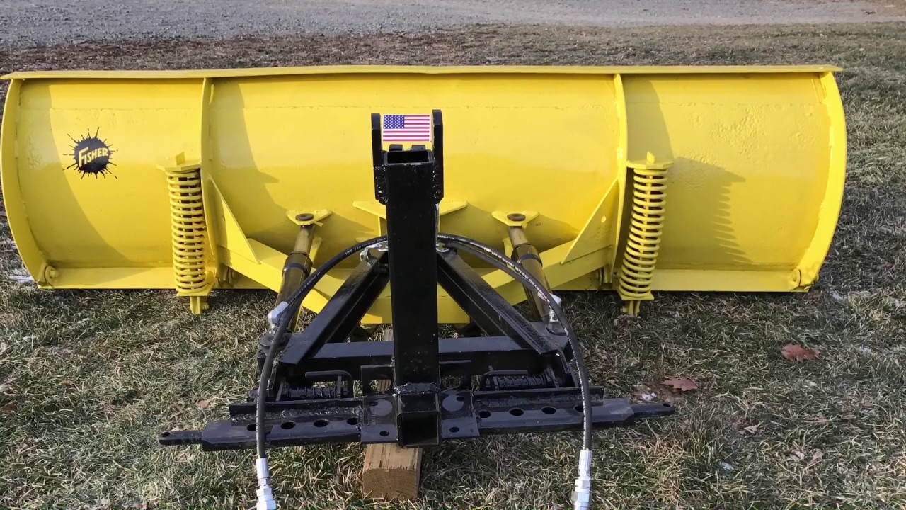 3 Point Hitch Tractor Plows : Quick attach and point hitch tractor snow plow