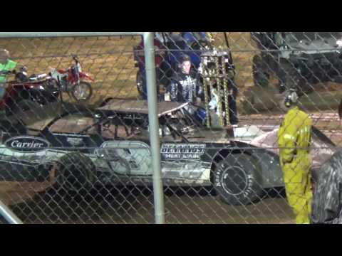 Ark La Tex Speedway Timmy Culp victory lane interview the first 2 time winner 3/17/17