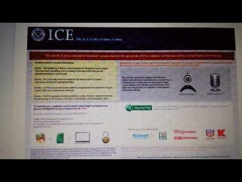 """How to Remove """"ICE Cyber Crimes Center"""" Ransomware Virus- No BS!"""