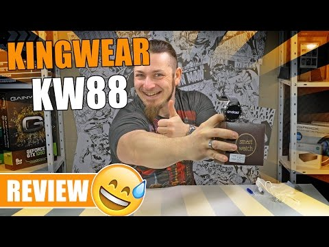 KINGWEAR KW88 - Highend China-Smartwatch? [Review, German, Deutsch]