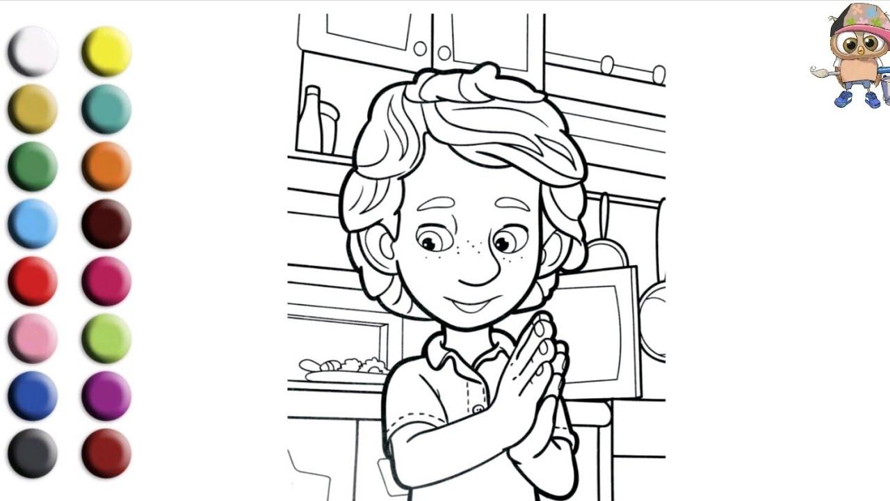 Раскраска для детей ФИКСИКИ /ДИМ ДИМЫЧ. Мультик-раскраска ...