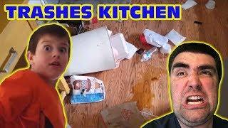 Kid Temper Tantrum Trashes Kitchen!: Deleted Video [Original]