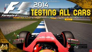 F1 2014 | Hockenheim Hot Laps - ALL CARS Comparison