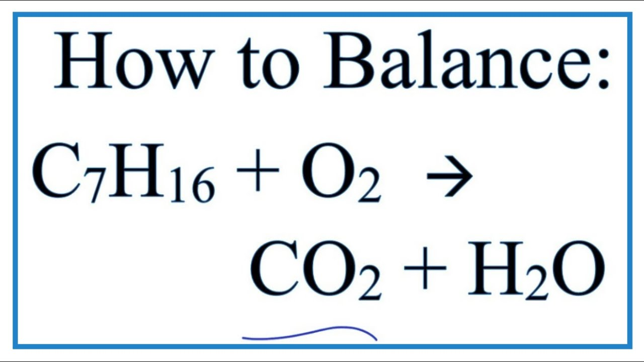 Write a balanced equation for the complete combustion of heptane resume for business internship