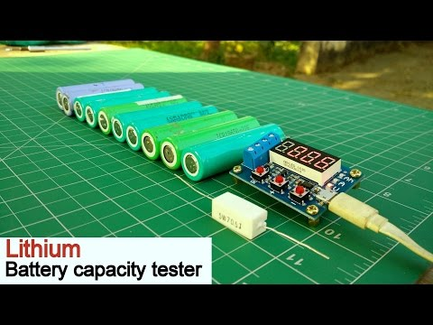 Battery Capacity Tester | Lithium Ion 18650 Capacity Checker