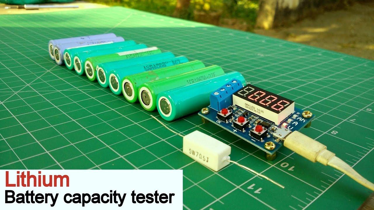 Battery Capacity Test : Battery capacity tester lithium ion