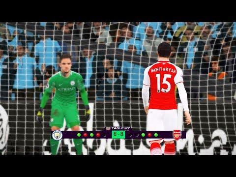 Debut Mkhitaryan Arsenal | Manchester City Vs Arsenal FC | Penalty Shootout | PES Gameplay PC