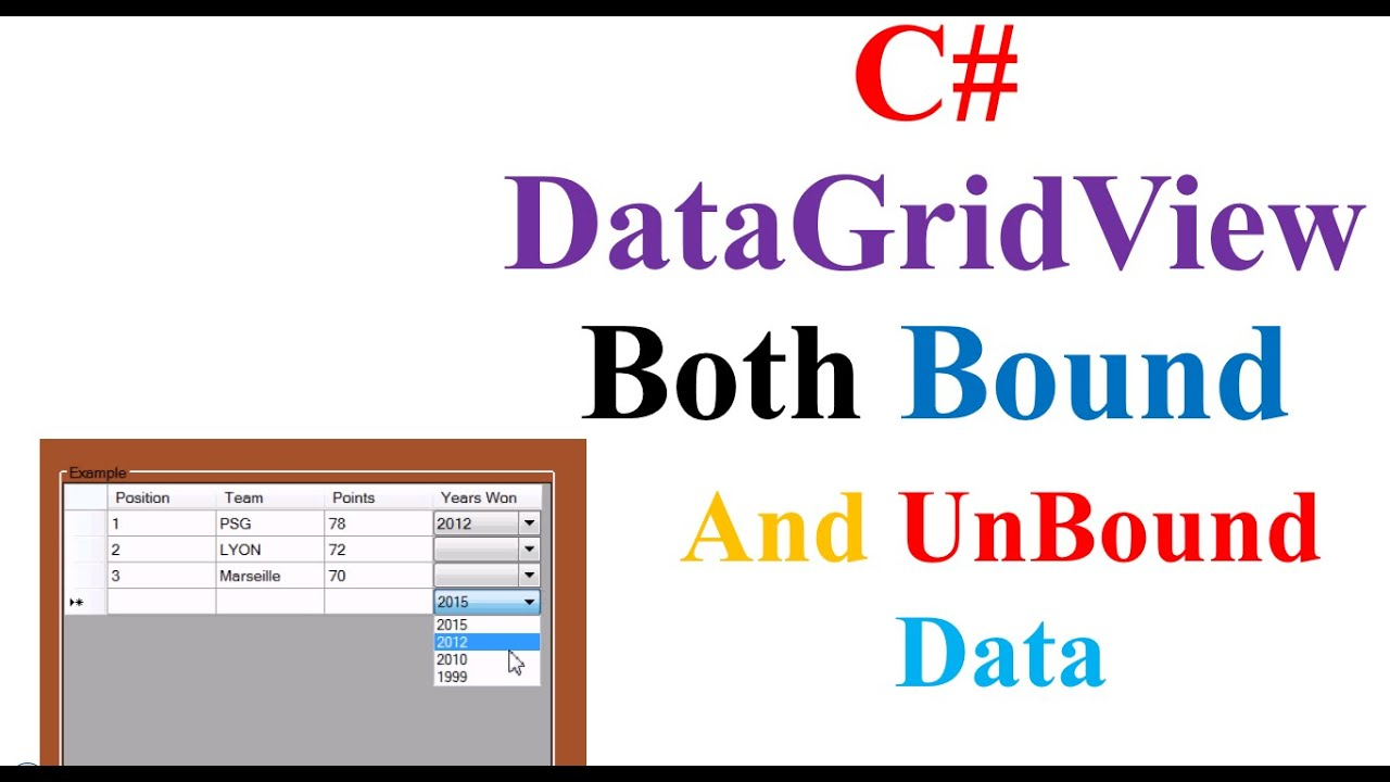 C# DataGridView - Include Both Bound and Unbound Data