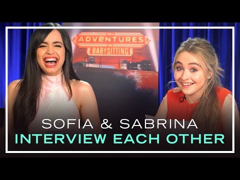 Adventures in Babysitting Stars Sabrina Carpenter and Sofia Carson Interview Each Other