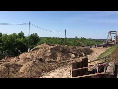 Budowa mostu nad Bugiem w Małkinii ciągu LK 6 Zielonka - Białystok