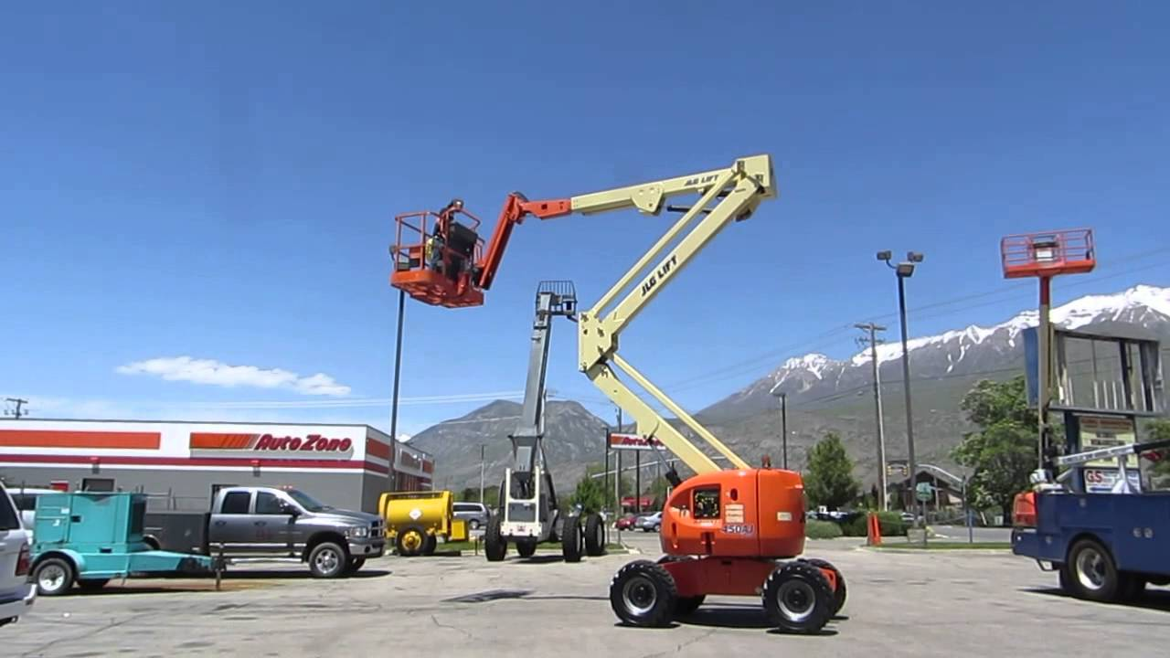 Manlift Articulating Boom Lift Aerial 2006 JLG 45' Reach 4x4 On-Board 120  VAC Generator $28,800