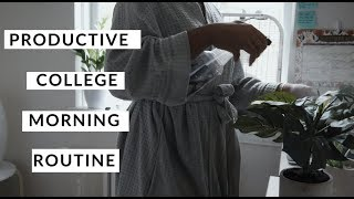 PRODUCTIVE COLLEGE MORNING ROUTINE | ft. Palmers