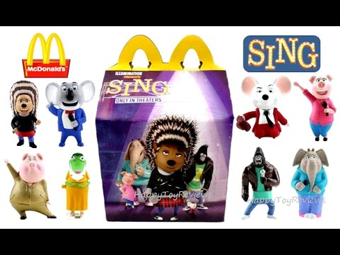 Full Set 2016 Mcdonald S Sing Movie Happy Meal Toys Usa 7