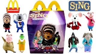 FULL SET 2016 McDONALD'S SING MOVIE HAPPY MEAL TOYS USA 7 1 8 UNBOXING COLLECTION REVIEW US WORLD
