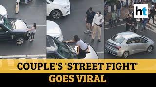 Watch: Mumbai couple's dramatic 'street fight' brings traffic to a halt