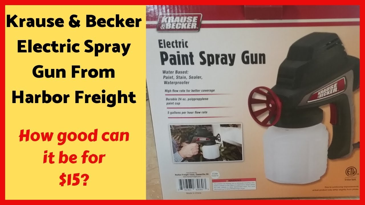 Krause Becker Sprayer Review Spraying Cabinets