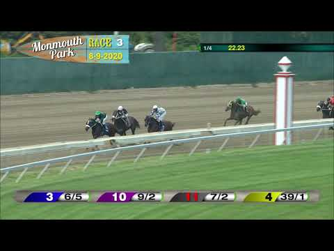 video thumbnail for MONMOUTH PARK 08-09-20 RACE 3