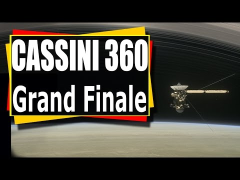 Incredible NASA 360 Video Cassini's Grand Finale 360 view VR
