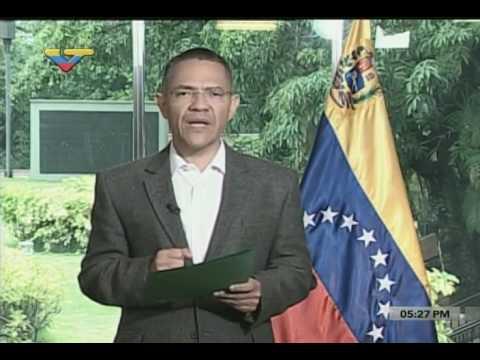 Reporte del ministro Ernesto Villegas sobre hechos en El Valle y hospital materno infantil